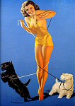 Rolf Armstrong pinup girl painting - 1940