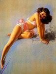 Rolf Armstrong pinup girl painting - 1945