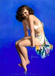 Rolf Armstrong pinup girl painting - 1947