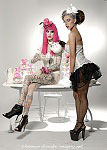 Shannon Brooke pinup photo of Jeffree Star and Laura Doré