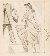 Harry Ekman pinup artist