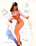 Ted Withers pinup girl